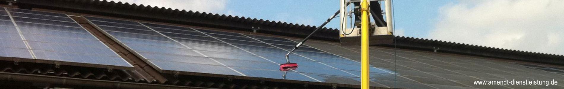 Solarreinigung Photovoltaikreinigung Münster, Amendt Dienstleistungsservice, Gebäudereinigung