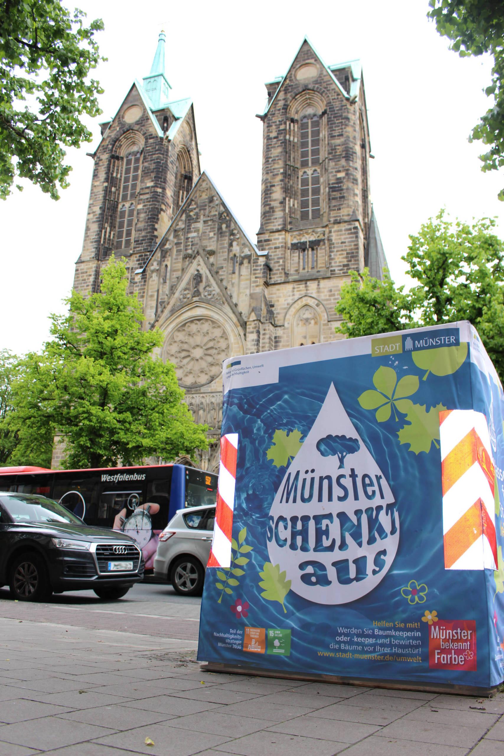 Wassercontainer, Bewässerung, Münster schenkt aus
