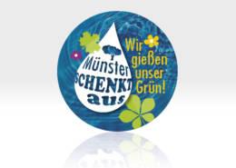 Münster schenkt aus, Wassercontainer ausbringen, befüllen