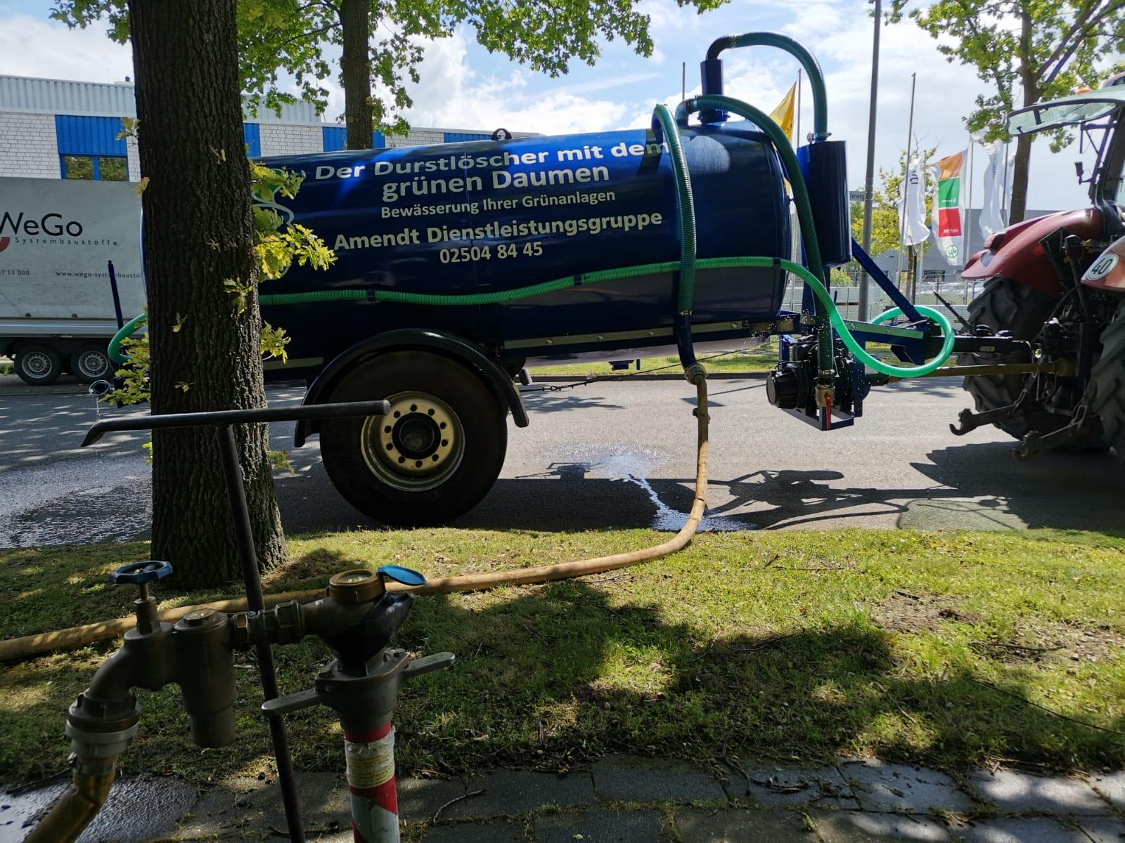 Wassertank befüllen, Bewässerung